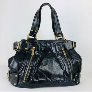 Kooba Black Leather Shoulder Bag